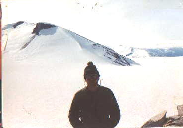 Bret W. Smith, Geophysicist @ Camp 10 Facing N.W.  Icy Basin in Background